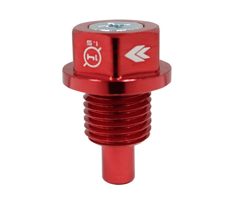 NRG NOP-100RD Red M14x1.5 Magnetic Oil Drain Plug