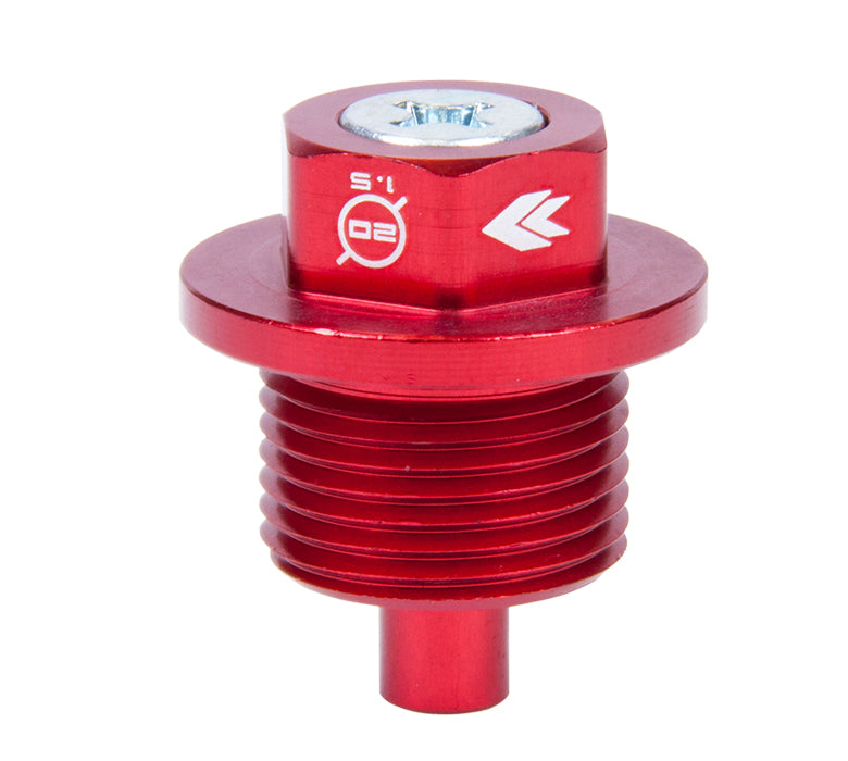 NRG NOP-300RD Red M20x1.5 Magnetic Oil Drain Plug