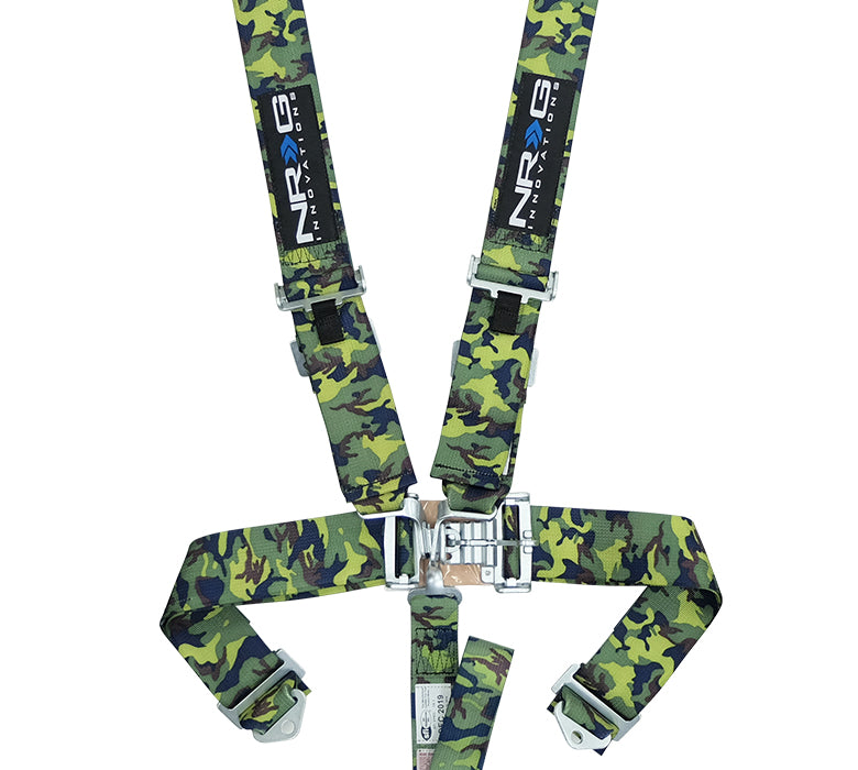 NRG SBH-5PCCAMO SFI 16.1 5 Point 3 inch Seat Belt Harness with Latch
