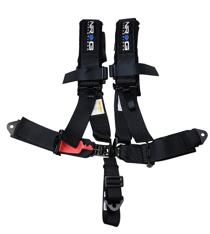 NRG SBH-R5PC BK Black 5 Point 3inch Seat Belt Harness with Latch