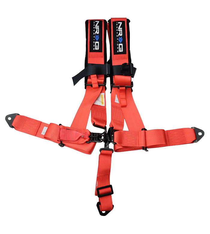 NRG SBH-R5PC RD Red 5 Point 3inch Seat Belt Harness with Latch