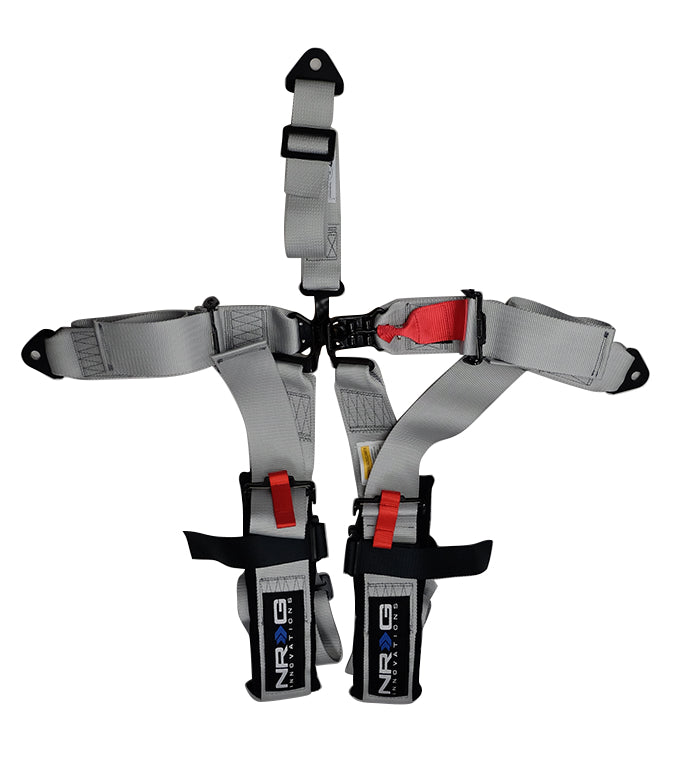 NRG SBH-R5PC SL Silver 5 Point 3inch Seat Belt Harness with Latch