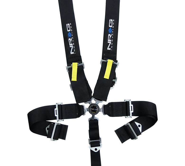 NRG SBH-RS5PCBK Black SFI 16.1 5 Point 3 inch Seat Belt Harness with Cam Lock