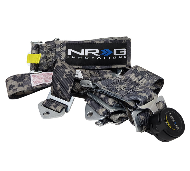 NRG SBH-RS5PCDCAMO-GY Digital Camo SFI 16.1 5 Point 3 inch Seat Belt Harness with Cam Lock