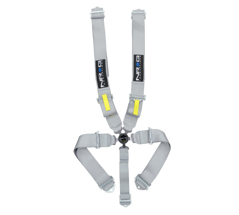 NRG SBH-RS5PCGY Silver SFI 16.1 5 Point 3 inch Seat Belt Harness with Cam Lock