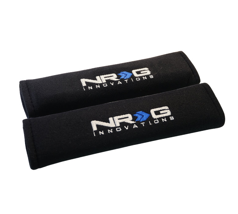 "NRG SBP-27BK Short Black Seat Belt Pads 2.7"" x 11"""