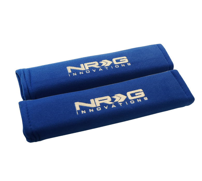"NRG SBP-27BL Short Blue Seat Belt Pads 2.7"" x 11"""