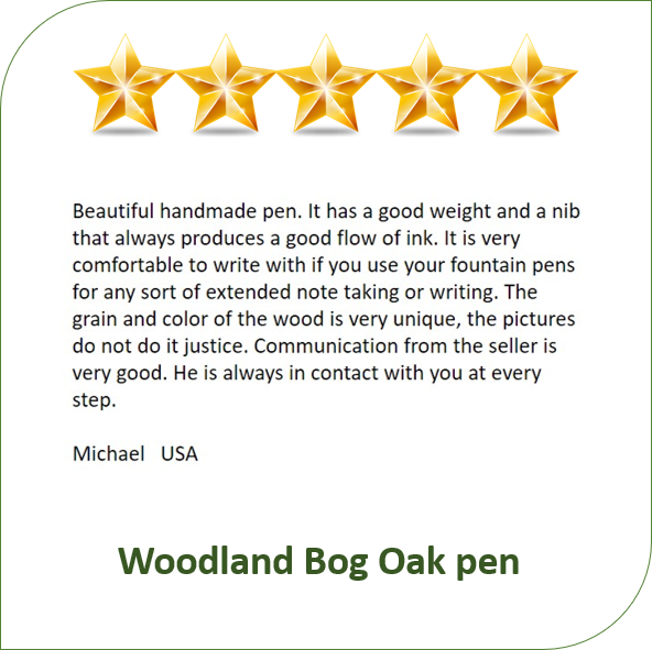 wooden handmade pen clients review for Irish Pens