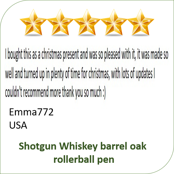 handmade wooden pen clients review for Irish Pens