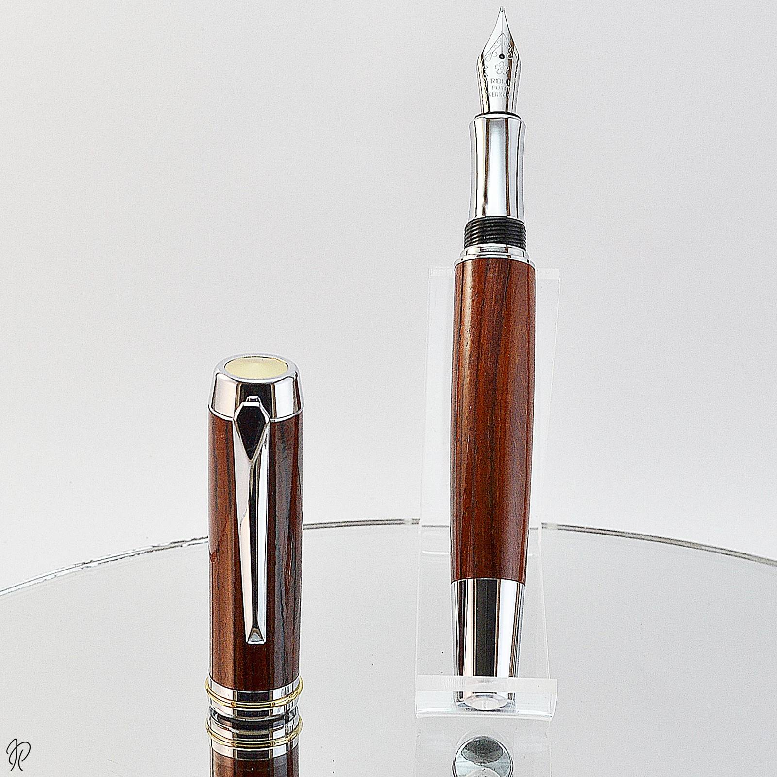 stunning wooden fountain pen deluxe model by irish pens
