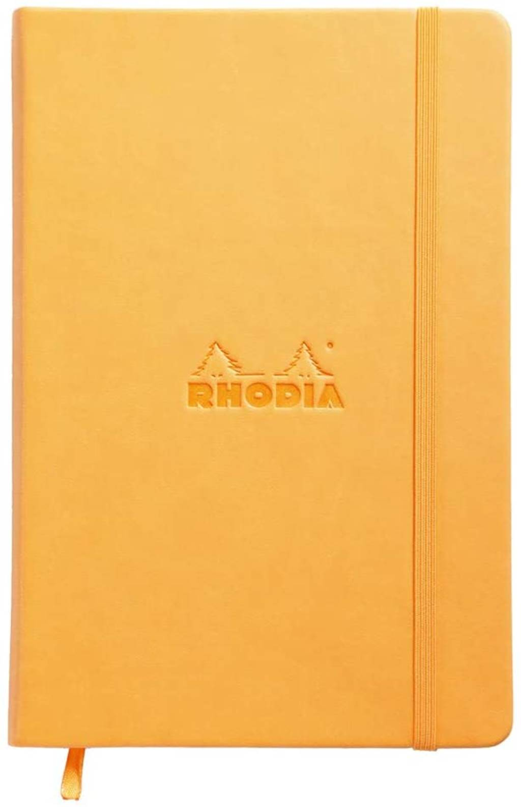 Rhodia web notebook Orange Italian imitation cover ruled lines