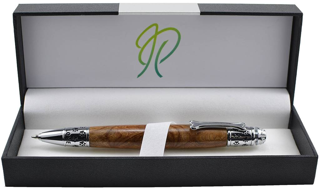 dog lovers gift dogy style writing pen in Irish burled elm by Irish Pens