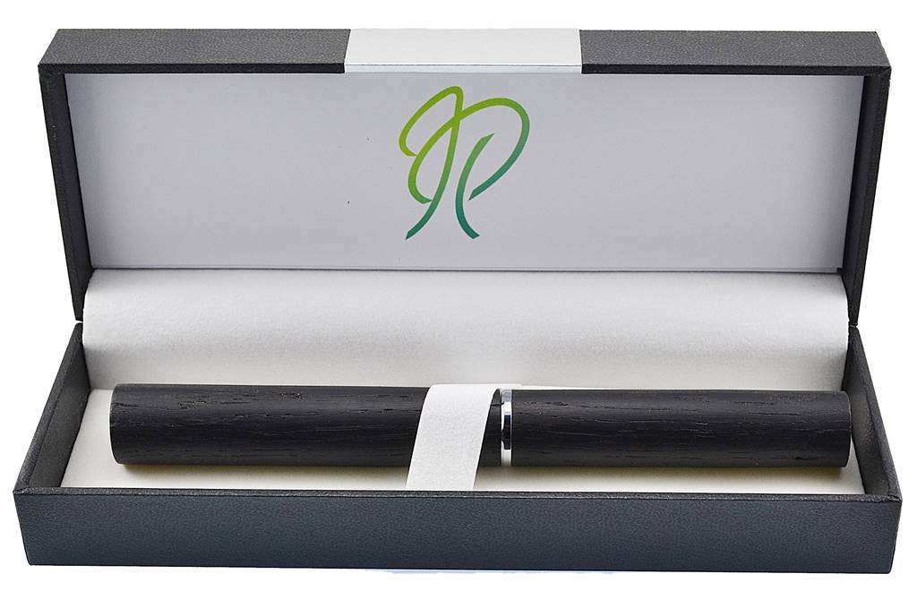 fountain pen unique design by Irish Pens in Irish Bog Oak stunning with Peter Bock nib