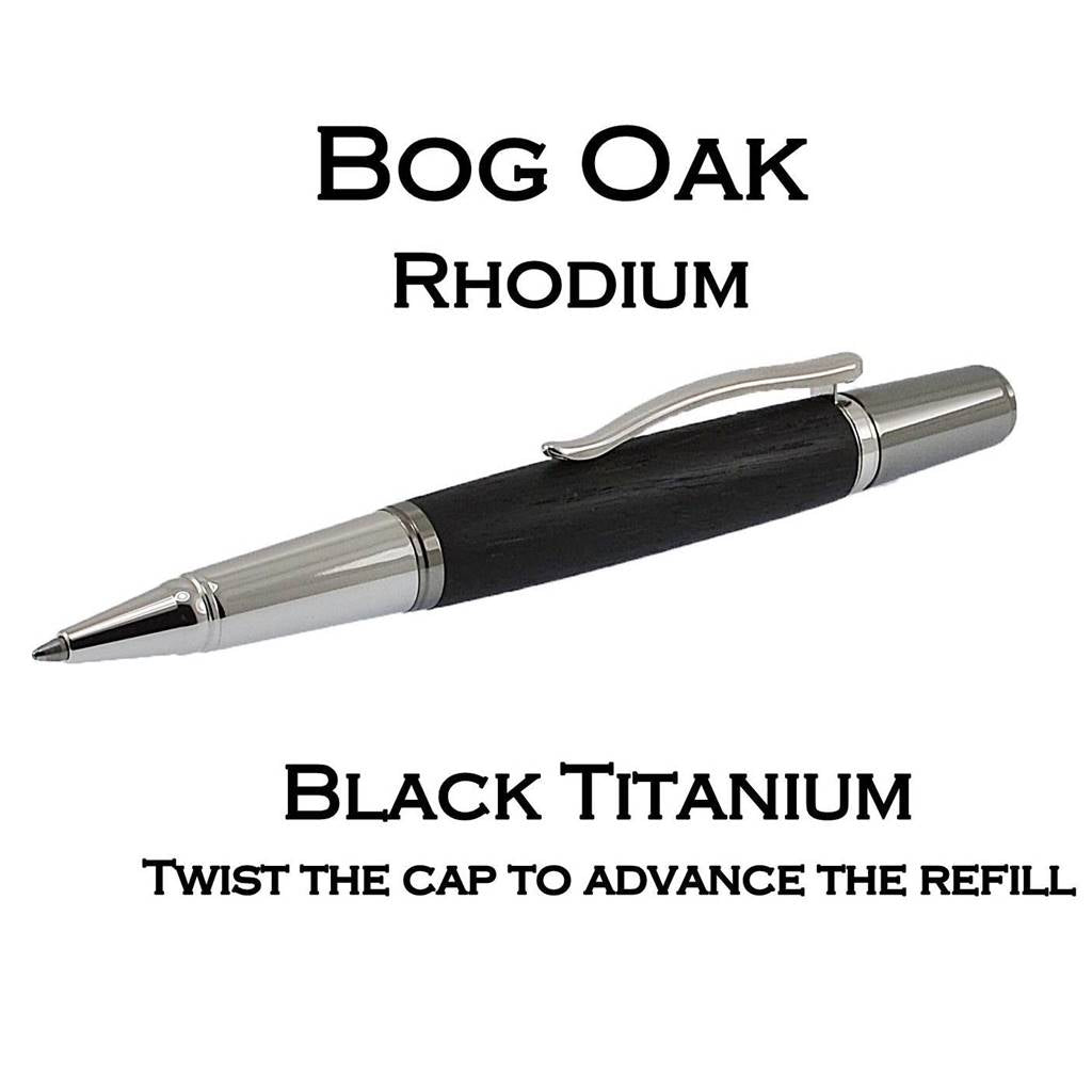quality writing pen for lady and man Irish bog oak handmade in Ireland by Irish Pens