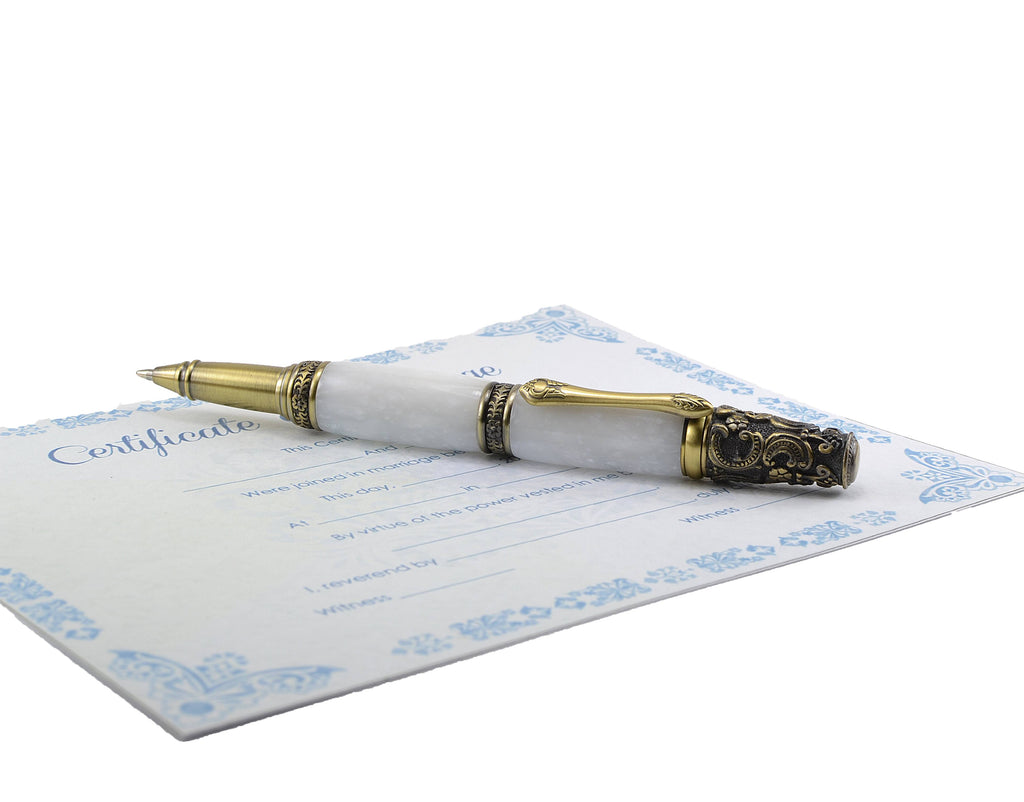 wedding-gift-white-antique-writing-pen-handmade-in-ireland