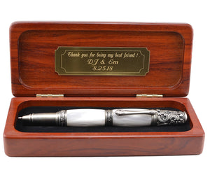 wedding-gift-in-Rosewood-high-end-gift-box-handmade-wedding-pen