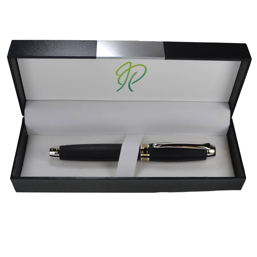 irish bog oak handmade wooden rollerball pen by irish pens