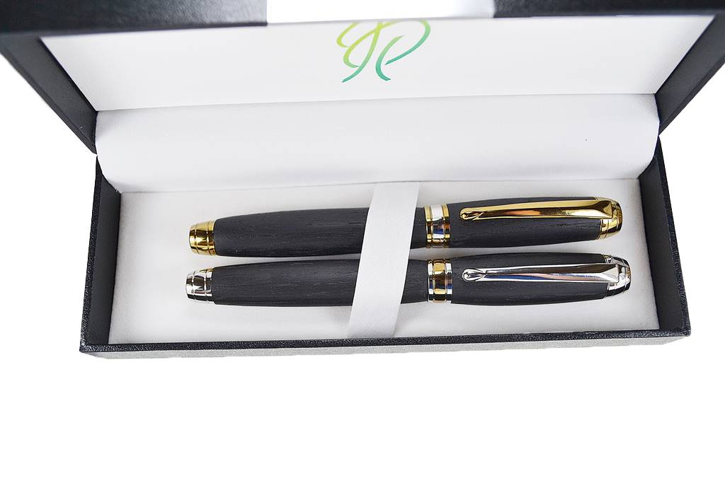 writing pen gift set his and hers gift set rollerball pens handmade writing pen set made in Ireland bog oak gift