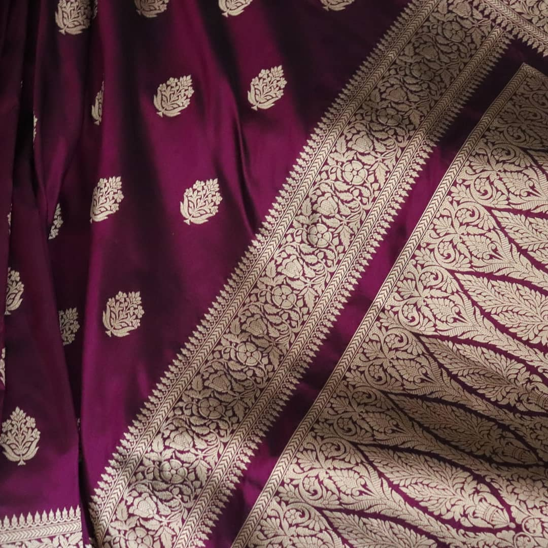 Pure Katan Silk Wedding Banarasi Saree