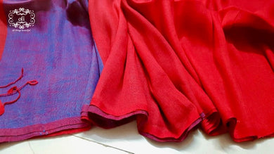 Pure Cotton Linen Handloom Saree