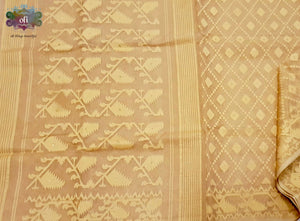 Chandan Pure Dhakai Jamdani Saree