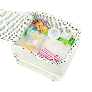 Custom-made multi function double one Mommy bag portable folding baby bed outdoor travel handbag