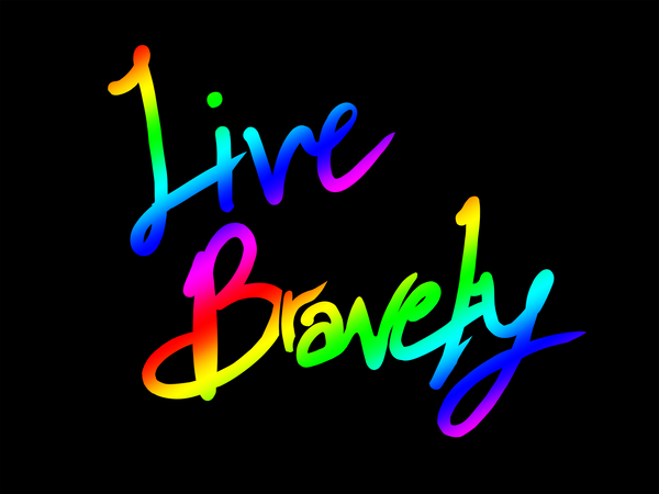 Live Bravely T-Shirt Print (Black)