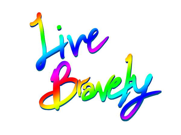Live Bravely T-Shirt Print (White)
