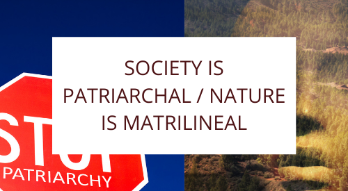 Society is Patriarchal / Nature is Matrilineal