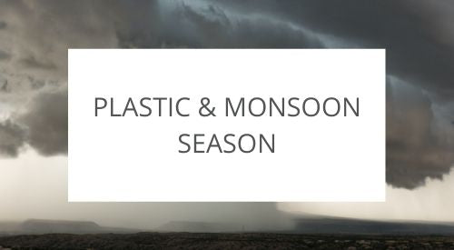 Plastic waste in Bali during Monsoon season
