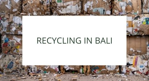 The reality of recycling in Bali