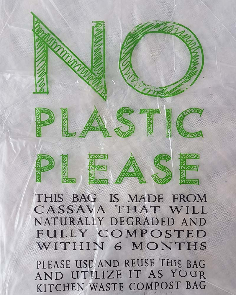 Set of 50 Cassava shopping bags