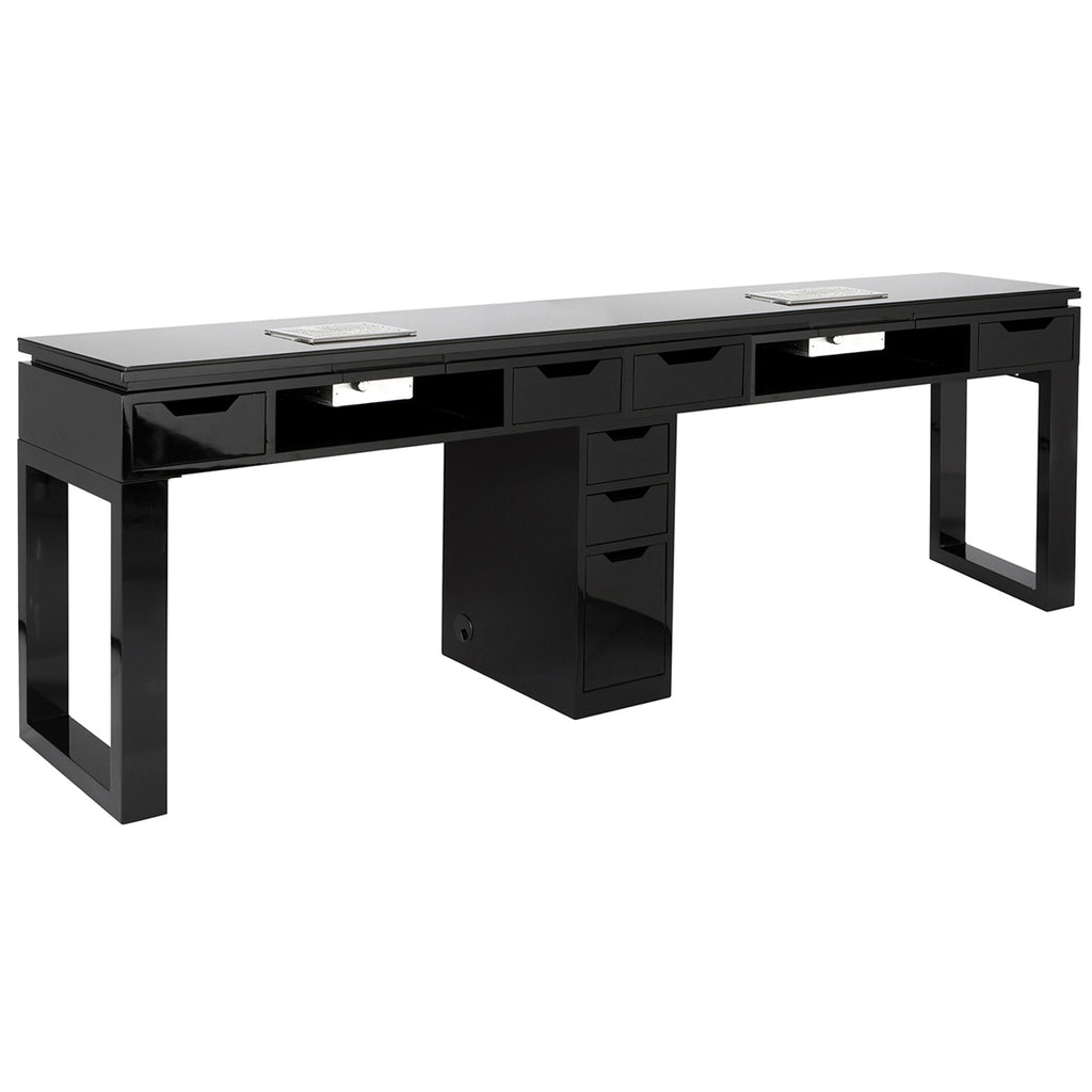 Valentino LUX Double Manicure Table - Black - Tech Side
