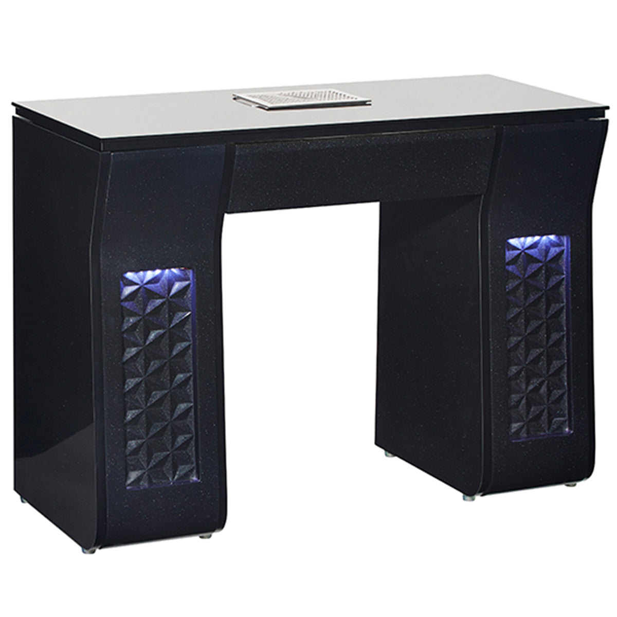 VICKI Manicure Nail Table - Black - Client Side Lit