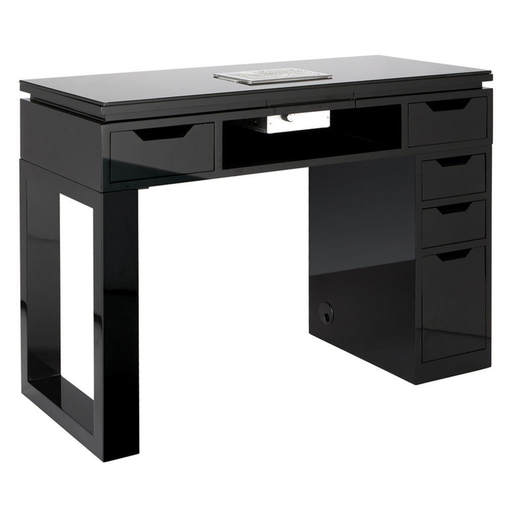 Valentino LUX Manicure Nail Table - Black - Tech Side