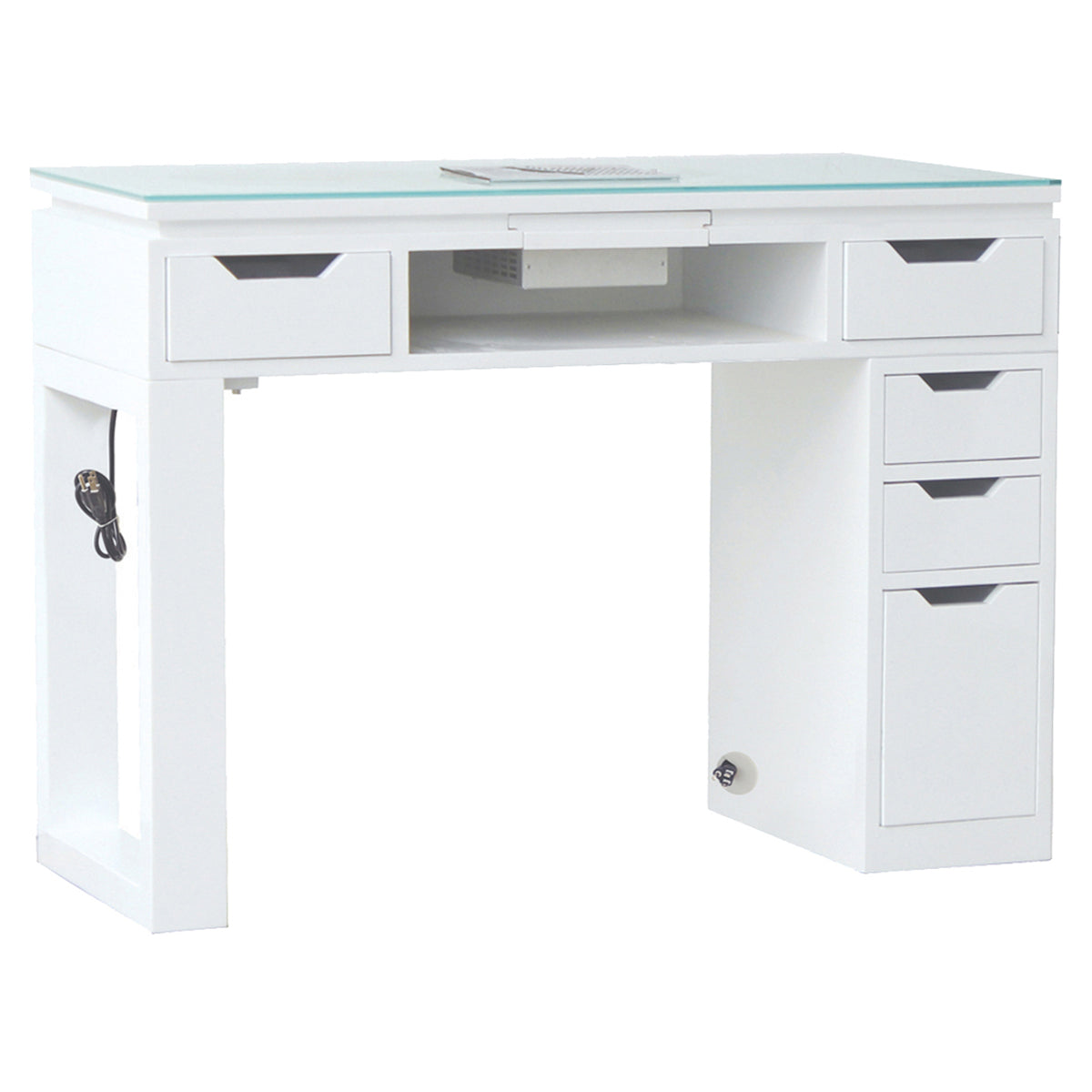 Valentino LUX Manicure Nail Table - White - Tech Side