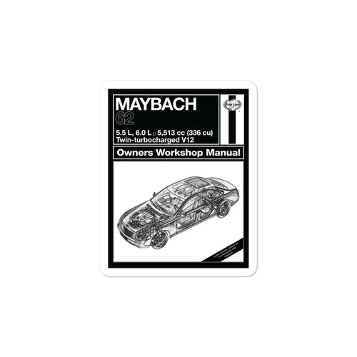 Maybach Manual Sticker