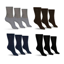 Load image into Gallery viewer, Men's Cotton Diabetic Crew Socks (Assorted)