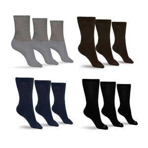 Men's Cotton Diabetic Crew Socks (Assorted)