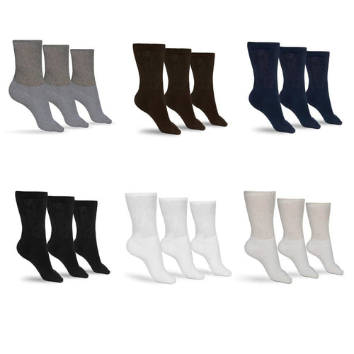 Women's Cotton Diabetic Crew Socks (Assorted)
