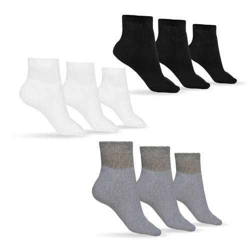Men's Cotton Diabetic Ankle Socks (Assorted)