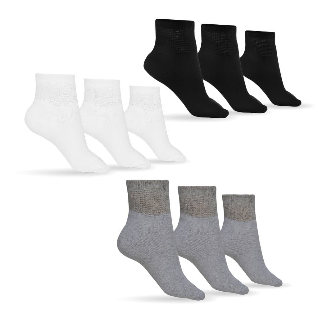 Women's Cotton Diabetic Ankle Socks (Assorted)