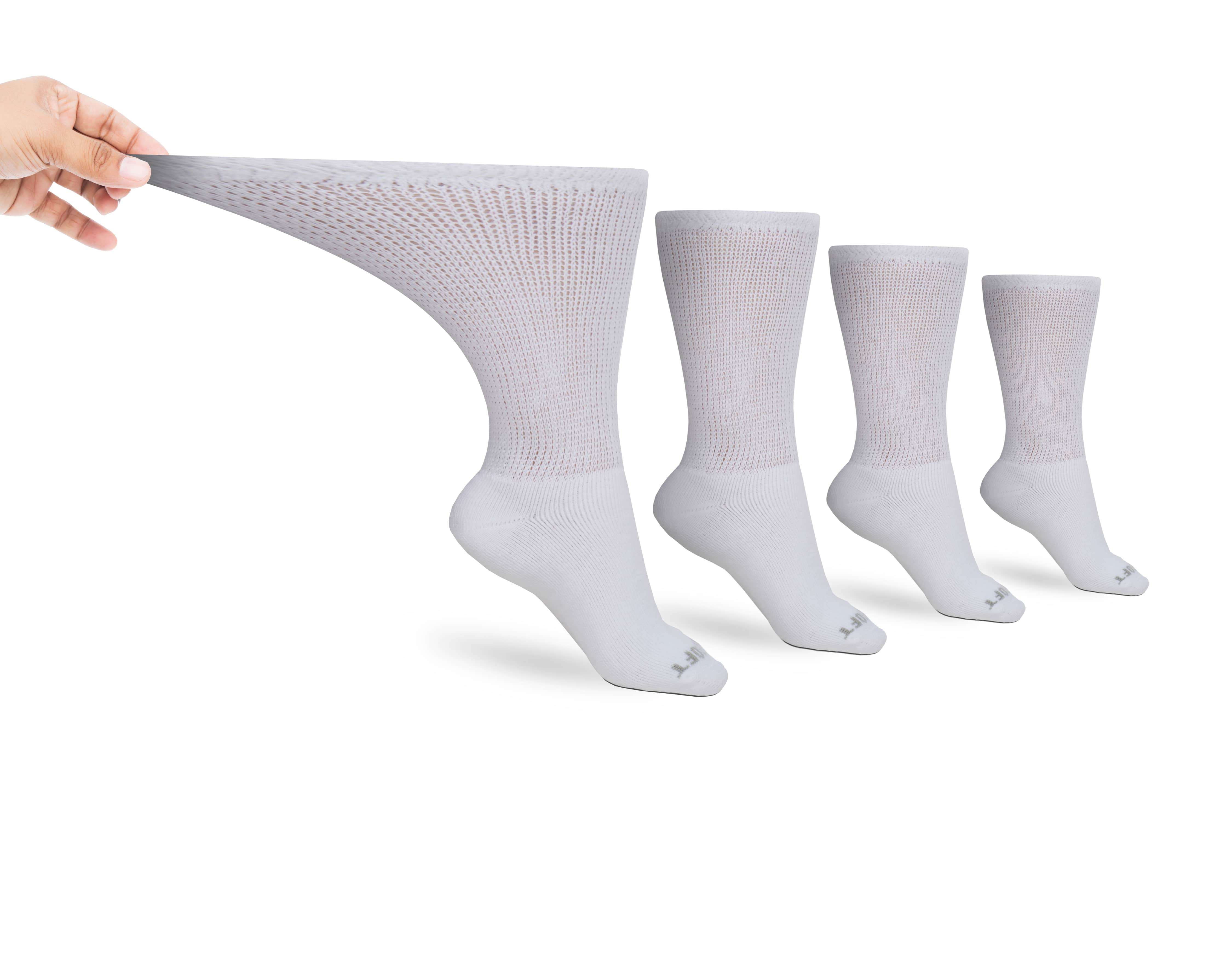 Men's Ultra-Soft Upper Calf Diabetic Socks (4 Pair)