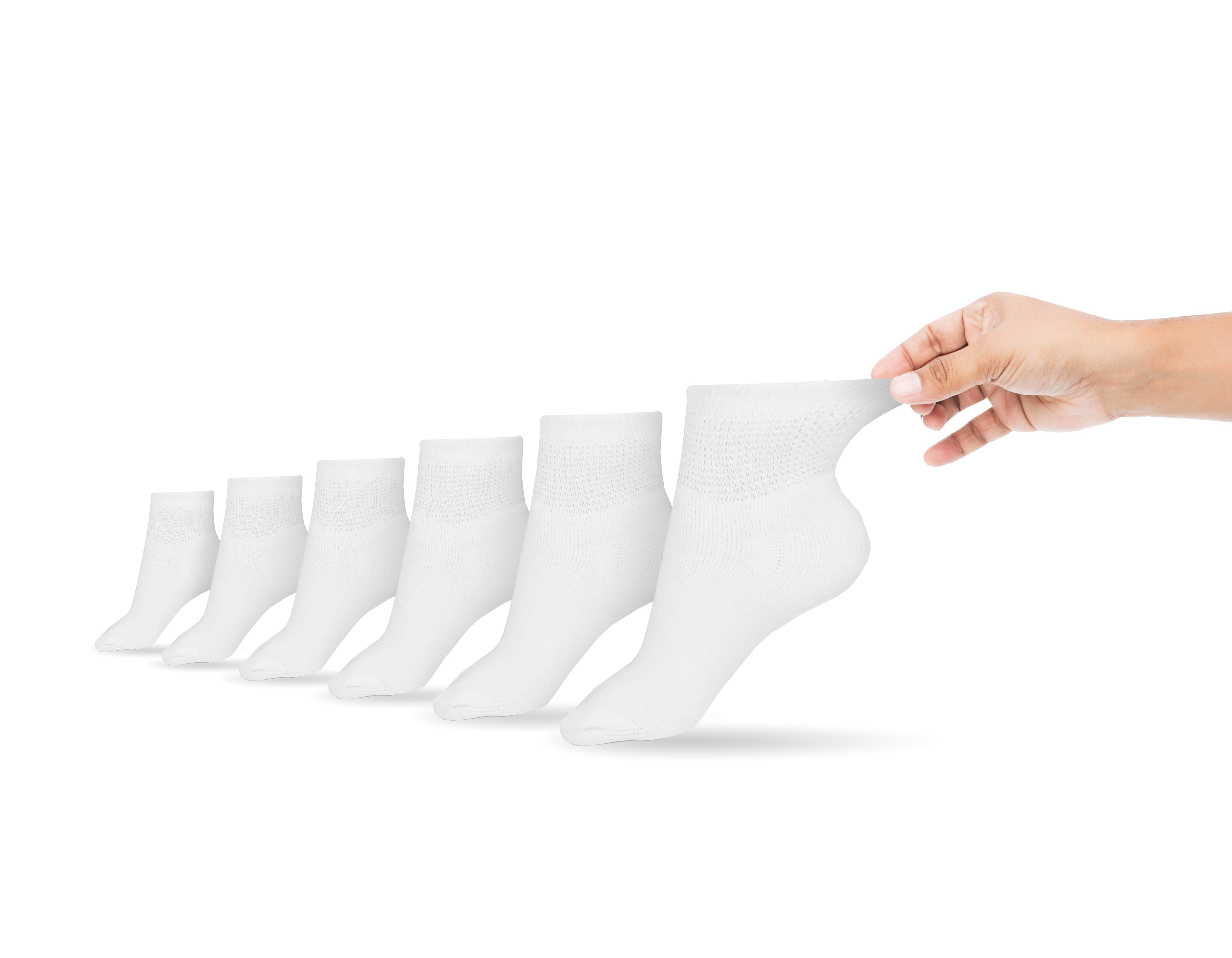 Women's Cotton Diabetic Ankle Socks (6 Pair)