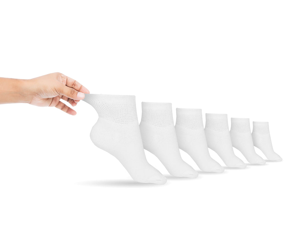 Men's Cotton Diabetic Ankle Socks (6 Pair)