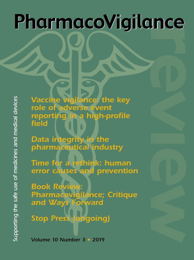 Pharmacovigilance Review - Volume 10 No.3 - latest issue.