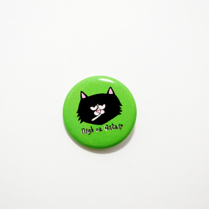 Catnip Cat  Pinback Button