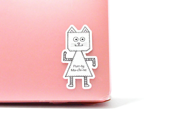 Cat Robot Vinyl sticker
