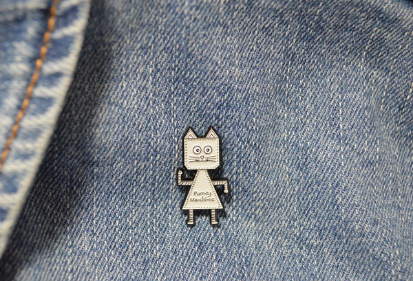 Robot cat Enamel Pin