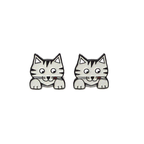 Cat earrings - 3 W cats